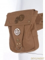 Brown Steampunk Belt with Pocket Bag