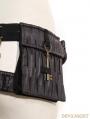 Black Leather Steampunk Belt with Pocket Bag