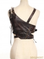 Steampunk Chest Harness with Light Up Metal Heart