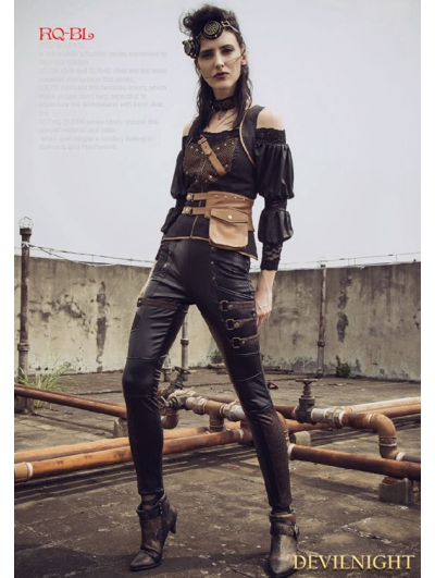 Steampunk Thick Pile Pants for Women