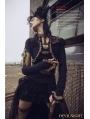 Black Long Sleeves Steampunk T-Shirt for Women