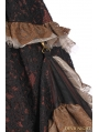 Lace Irregular Long Steampunk Skirt