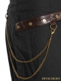 Black Cotton Mermaid Steampunk Long Skirt