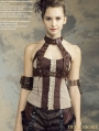 Halter Steampunk Vest Shirt for Women