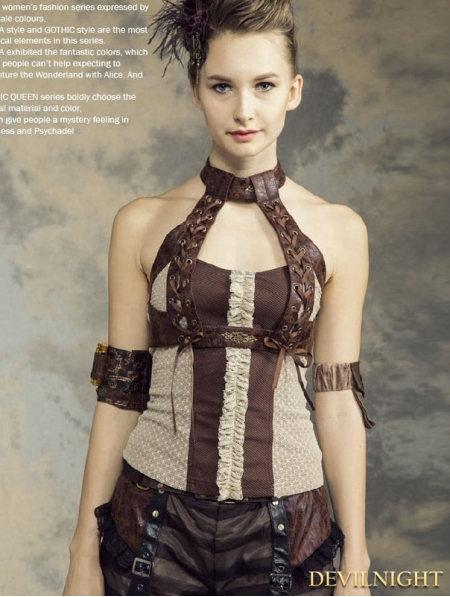 halter steampunk vest shirt for women devilnightcouk