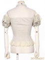 Steampunk Halter Short Sleeves Shirt for Women