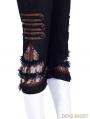 Steampunk Slim Calf Length Trousers for Women