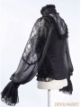 Black Long Sleeves Gothic Victorian Blouse for Women