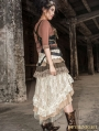 Lace High-Low Steampunk Skirt