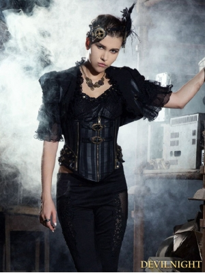 Steampunk Black Bolero Jacket