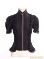 Steampunk Shirt with Elastic Cap Sleeves
