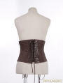 Brown Steampunk Costume Underbust Corset