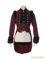 Red Swallow Tail Gothic Coat for Women