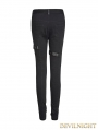 Black Gothic Punk Tight Pants for Women
