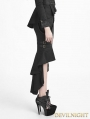 Black Uniform Style Gothic Punk Fishtail Skirt