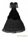 Black Velvet Off-the-Shoulder Gothic Victorian Dress