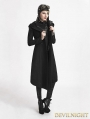 Black Gothic Hooded Coat for Women