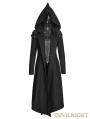 Black Gothic Hooded Coat for Women