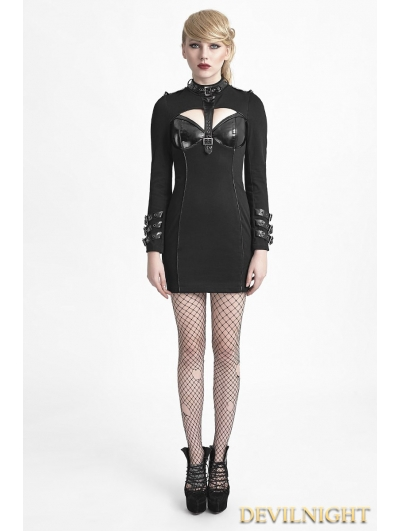 Black Gothic Punk Sexy Dress