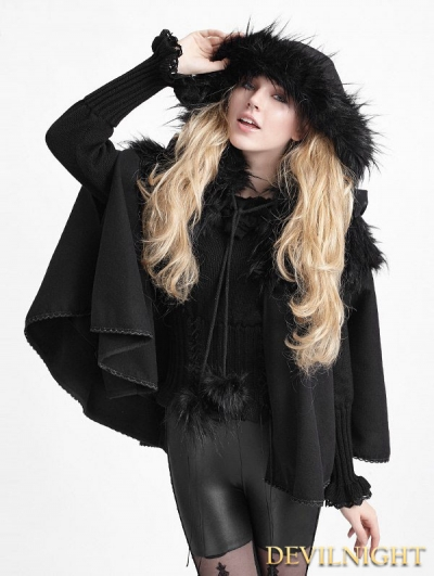 Black Gothic Lolita Cape