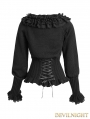 Black Gothic Lolita Sweater