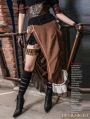 Brown Victorian Steampunk Bustle Long Skirt