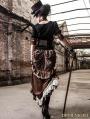 Brown Victorian Steampunk Bustle Long Skirt
