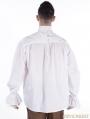 White Vintage High Collar Gothic Blouse for Men