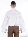 White Vintage Bowtie Gothic Blouse for Men