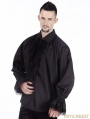 Black Vintage Gothic Blouse for Men