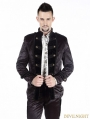 Black Double-Breasted Short Gothic Jacket for Men