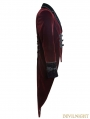 Wine Red Gothic Gentle Jacket with Scissors Tail