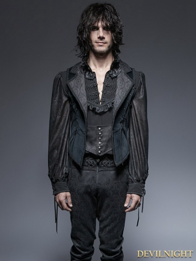 Gothic Gorgeous Long Tuxode Vest