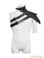 Black Steampunk One-Shoulder Standard CollarPunk Leather