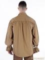 Brown Vintage Steampunk Blouse for Men