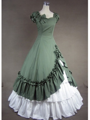 Green Classic Gothic Victorian Dress