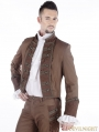 Brown Vintage Steampunk Tuxode Jacket for Men