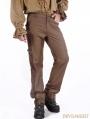 Brown Vintage Steampunk Pants for Men