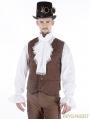 Brown Vintage Steampunk Vest for Men