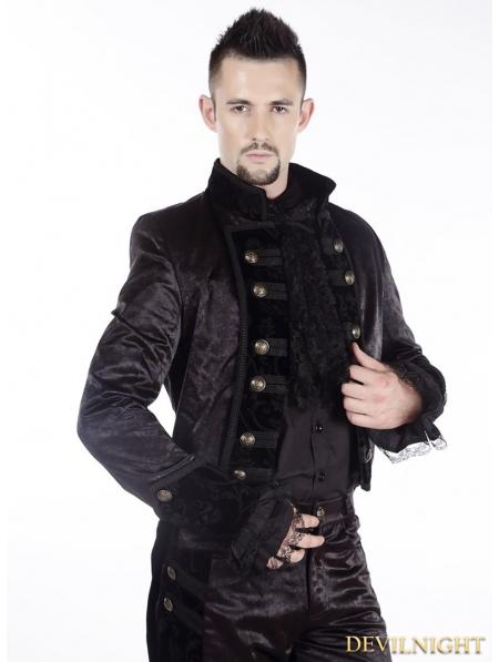 Black Gothic Tuxedo Jacket For Men Devilnight Co Uk