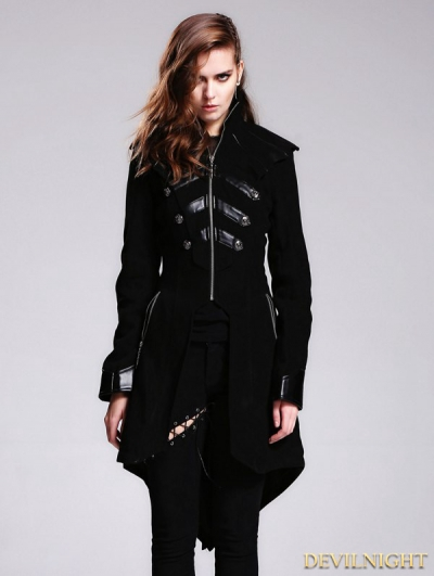 Black Gothic Punk Jacket for Women