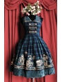Sleeveless Printed Pattern Sweet Rococo Lolita Dress