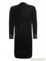 Black Gothic Aesthetic Embossed Coat for Men
