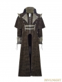 Coffee Gothic Punk Killer Sense Coat with Cape