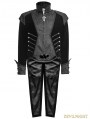 Black Gothic Two PCS One Set Short Outers with Swallow Tail