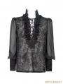 Gorgeous Black Gothic Bubble Shirt for Men
