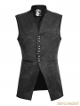 Black Stand-up Collar Gothic Vest for Men