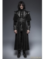 Black Gothic Long Cloak Coat for Men