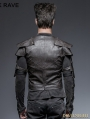 Coffee Gothic Armor Warrior Short Jacket for Men