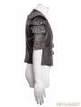 Coffee Gothic Armor Warrior Short Jacket for Men